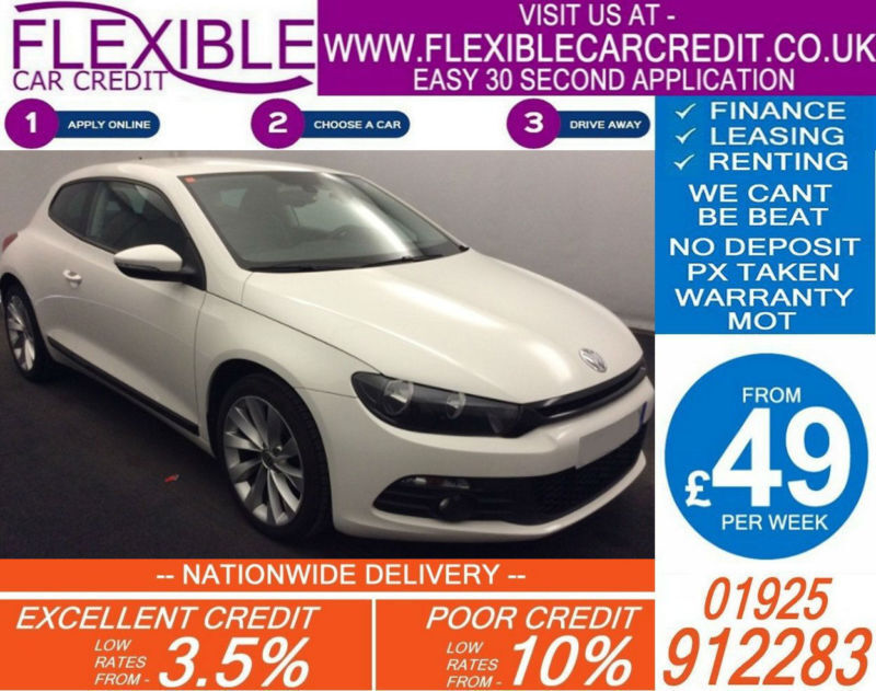 2012 VW SCIROCCO 2.0 TDI 140 GT DSG GOOD / BAD CREDIT CAR FINANCE AVAILABLE