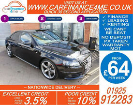 2011 AUDI A4 TDI S-LINE BLACK EDITION GOOD BAD CREDIT CAR FINANCE FROM 64 P/WK