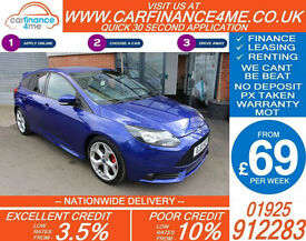 2013 FORD FOCUS 2.0 T ST2 GOOD / BAD CREDIT CAR FINANCE FROM 69 P/WK