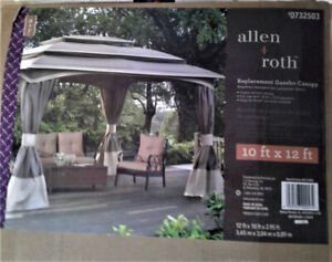 10' x 12' Allen & Roth Replacement Gazebo Canopy #0732503