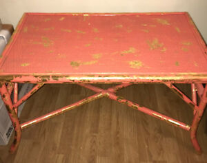 Rustic indoor/outdoor table