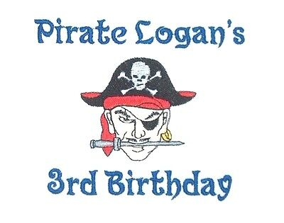 Personalized Custom Made PIRATE Boy or Girl Name or Birthday T Shirt](Girl Pirate Names)