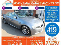 2010 BMW M3 4.0 CONVERTIBLE GOOD / BAD CREDIT CAR FINANCE FROM 119 P/WK