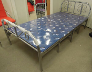 Folding platform bed,single size,11 legs,