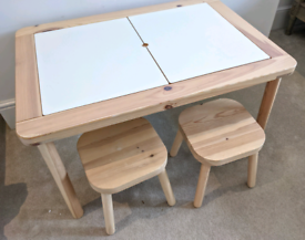 IKEA Flisat child table + 2 stools + 2 trofast storage boxes to fit