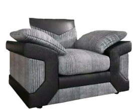 Grey Jumbo cord Armchair New free local delivery