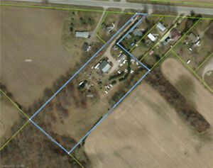 Buildings & Land with Shops For Sale! A Must See!