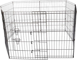 LIKE NEW Folding Wire Fence Exercise Pen with Door