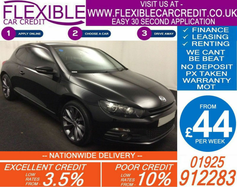 2011 VW SCIROCCO 2.0 TDI GT DSG GOOD / BAD CREDIT CAR FINANCE AVAILABLE