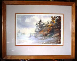"Northern Landscape by Edwin Matthews ""Misty Bay"" L/E Stratford Kitchener Area image 1"