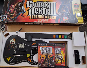 Selling guitar hero package for PS2