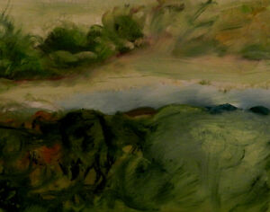 Abstract Landscape, oil painting on canvas,