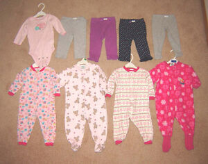 Girls Sleepers, Leggings, Clothes, Dresses - 12, 12-18, 18 mos