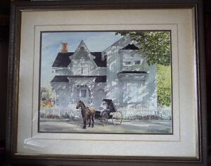 Victorian Wedding Picture, w/ Horse and Buggy by Walter Campbell
