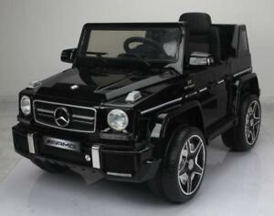 Licensed 12V Mercedes Benz G63 Baby / Child / Kid Ride-On Toy with Leather Seat, Doors, 2.4Ghz Parent Remote Controller,