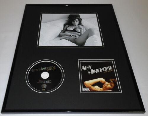 Amy Winehouse Framed 16x20 Back to Black CD & Photo Set