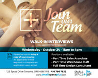 Furniture Store Part & Full Time Positions Available