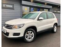 2012 Volkswagen Tiguan 2.0TDI White 4x4 4WD Tech **FVWSH - Auto Park**