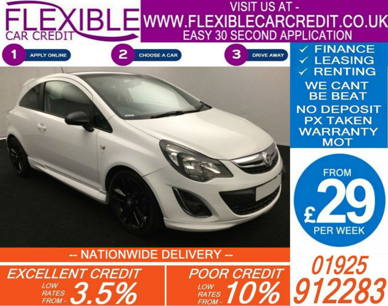 2014 VAUXHALL CORSA 1.2 LIMITED EDITION GOOD / BAD CREDIT CAR FINANCE AVAILABLE
