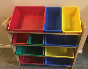 Toy Shelves with Bins