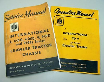 International Td9 92 Crawler Tractor Chassis Service Operators Repair Manual Ih