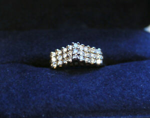 27 Diamond Stair Ring