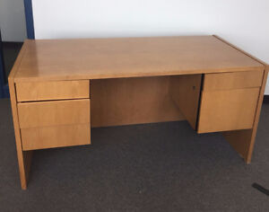 STK 2890 - OAK OFFICE DESK