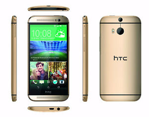 AMBER HTC ONE M8, UNLOCKED, no contract *BUY SECURE*
