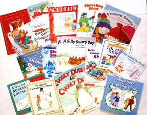 Kids's WINTER, SNOWMAN & SNOWY DAY Books -18 books-Age 3 & up