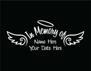 In Memory Of Car Decals EBay - Window decals in memory of
