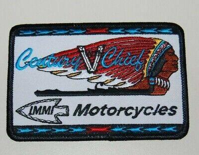 Vintage NOS Unused Indian IMMI Motorcycles Century Chief Iron / Sew On Patch