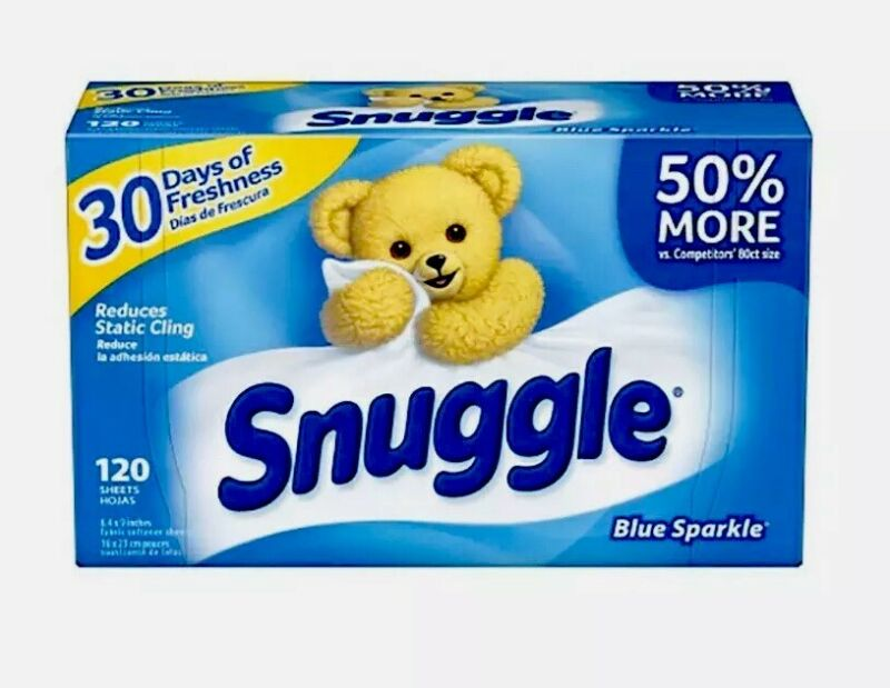 4 Pack Snuggle Fabric Softener Sheets Fresh Scent, 120 Sheets Box *