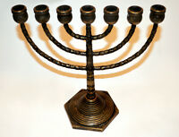 *MENORAH ANTIQUE* Ch7 branches, bronze* 115$!