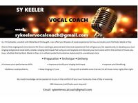 Sy Keeler Vocal Coach. One to One singing and voice lessons. Develop your own vocal skills.
