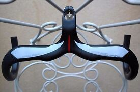 FSA Plasma Carbon Onepiece Handlebars Mat Black RRP £399 40 x 100mm Compact Drop Brand New