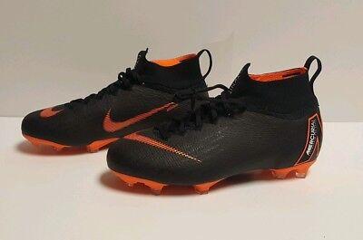 e58e2f560 Nike JR Mercurial Superfly VI Elite FG Soccer Cleats Orange 5.5Y NEW AH7340- 081