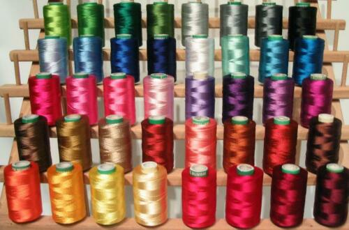 40 Christmas Colors Embroidery Threads for Brother Machine 5