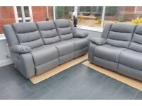 � BEAUTIFUL Excellent Quality New CHICAGO GREY RECLINER SOFA � Grand Sale Offer With 1year Warranty