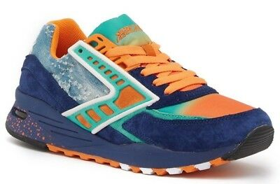 1fc0e66dbb5 NIB Brooks Regent Men s Sneaker Running Shoes Turquoise Orange Peacoat Size  9 D