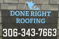 Need your roof re-shingled? Call Done Right Roofing