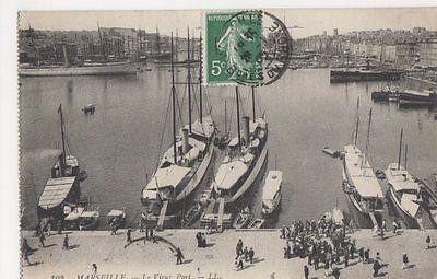 France, Marseille, Le Vieux Port, LL 102 Postcard, B415