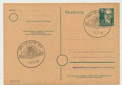 Sonderstempel LEIPZIG C1 1.9.50, Messehaus Petershof I (26685)