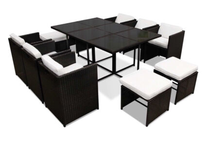 Africa Dining 10 Seater Set – Black & White