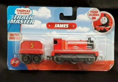 Thomas and Friends Adventures Fisher-Price Push Along James Die-Cast Toy Train