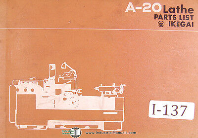 Ikegai A-20 Lathe 100 Page Parts List Manual