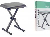 Brand New Stagg KEB-A10 folding keyboard bench/stool/throne. RRP £29.99. Great for Adults & Kids.