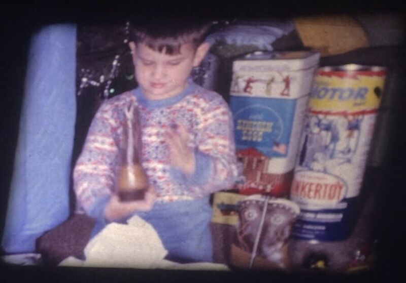 1962 Christmas Presents Toys Opening Wrapping Reg. 8mm Home Movie Film Reel