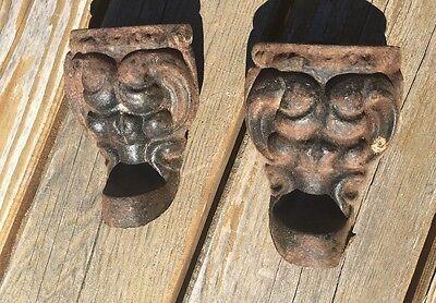 2 Antique VTG Rare Gargoyle Gothic Cast Iron Claw Foot Bath Tub Stove Feet Legs - Gargoyle Feet