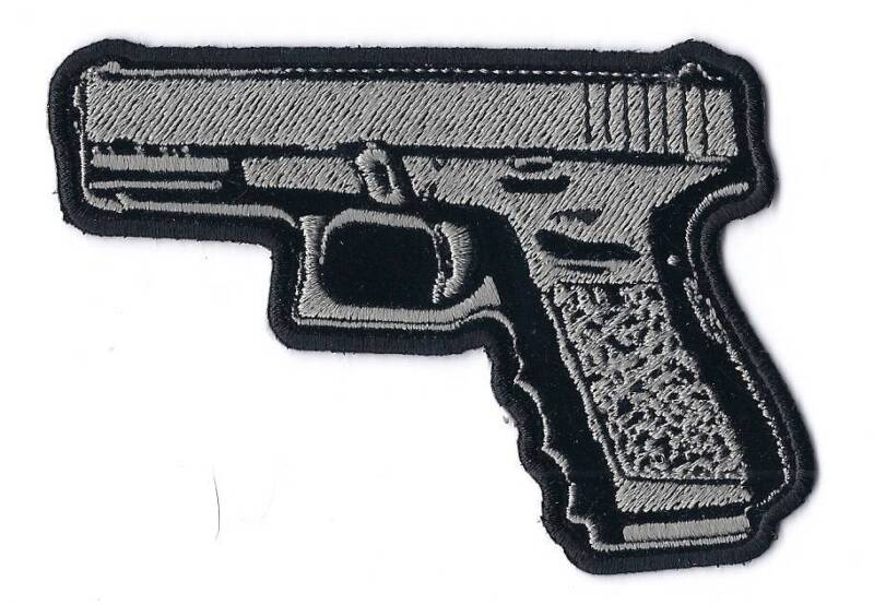 45 CALIBER HAND GUN PISTOL HIGH QUALITY EMBROIDERED PATCH