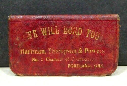 1910 Hartman Thompson Powers Bonds Guaranty Co. Portland OR Match Box Safe Vesta